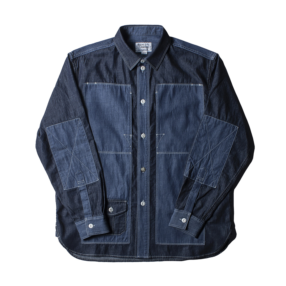 NAMER CLOTHINGBluer Utility Shirts(Navy)