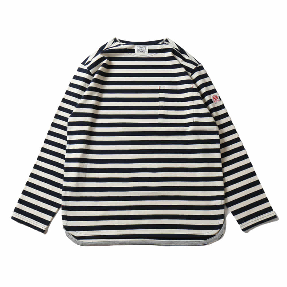 HORLISUNUnion Pocket Stripe Seasonal T-shirts(Fine Navy)