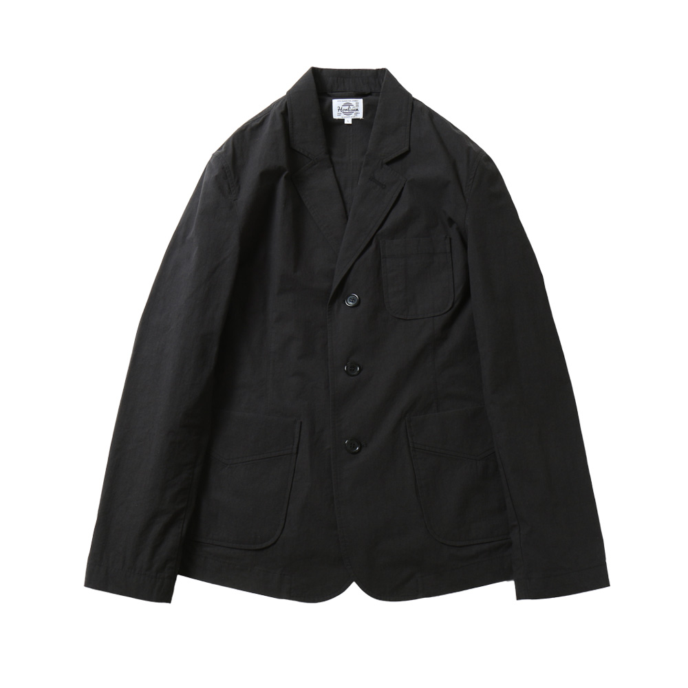 HORLISUNAston 3 Pocket Typewriter Jacket(Black Navy)10% Off