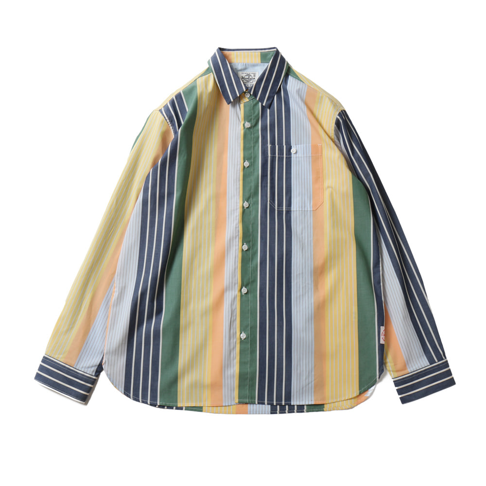 HORLISUNOsborne Multi Stripe Shirts(Yellow Green)