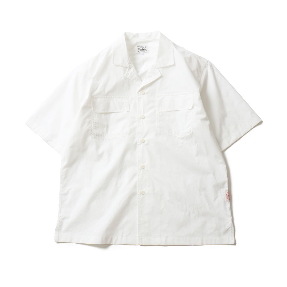 HORLISUNJoshua Extra High Density Solid Open Shirts(White)