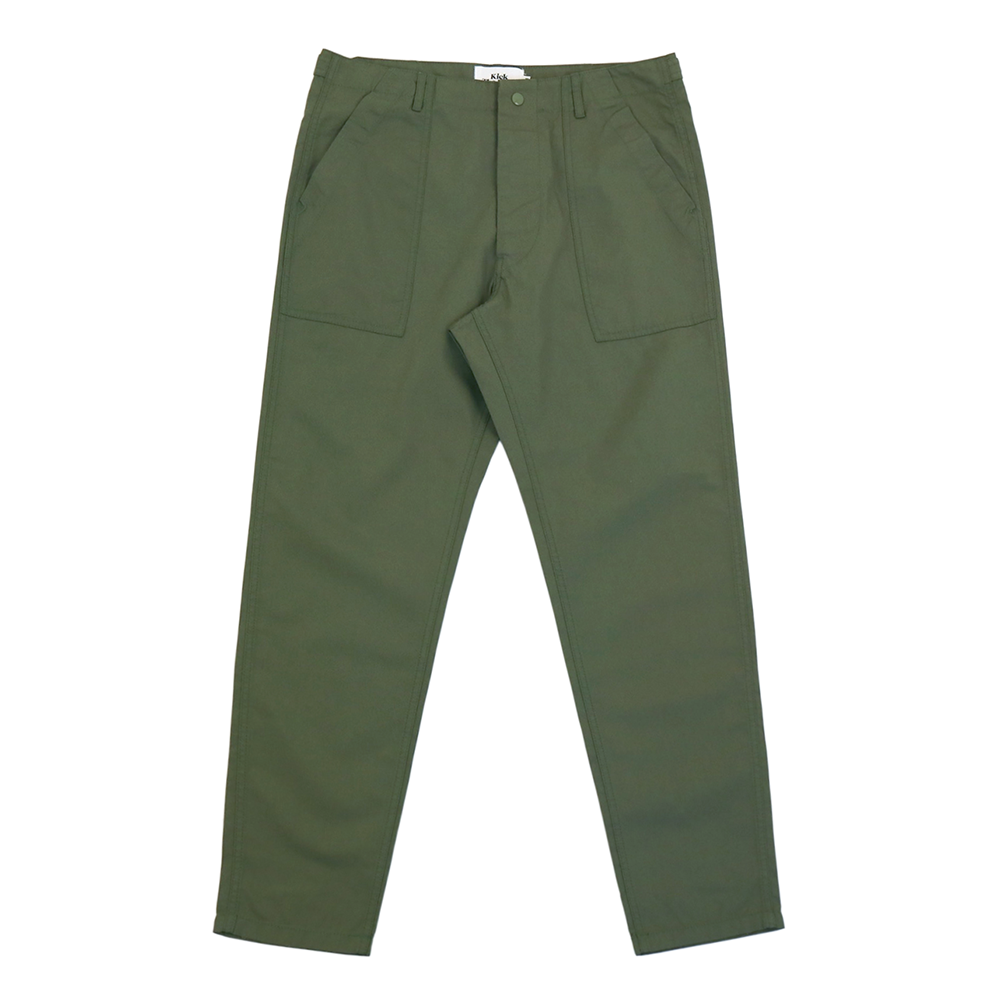 KICK THE BEATSlim Fatigue Pants(Olive)