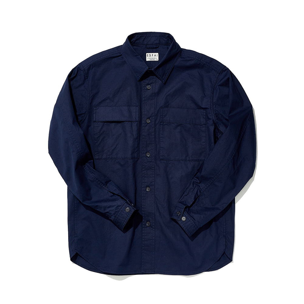 ESFAITwo Sided Pocket Shirt(Navy)