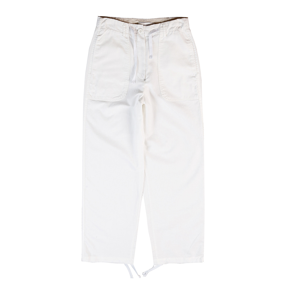 TOELinen String Slacks Pants(White)