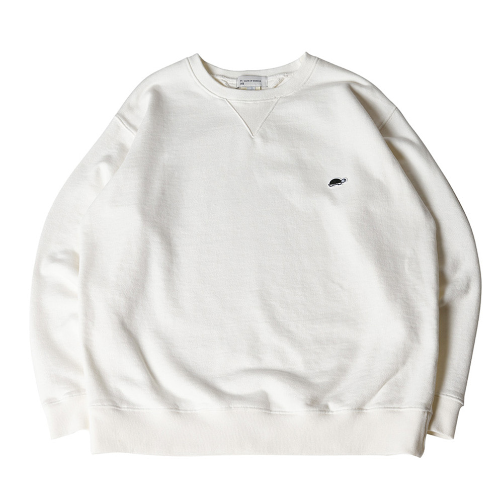 TOEUnisex EMB Long Sleeve Sweatshirt(White)