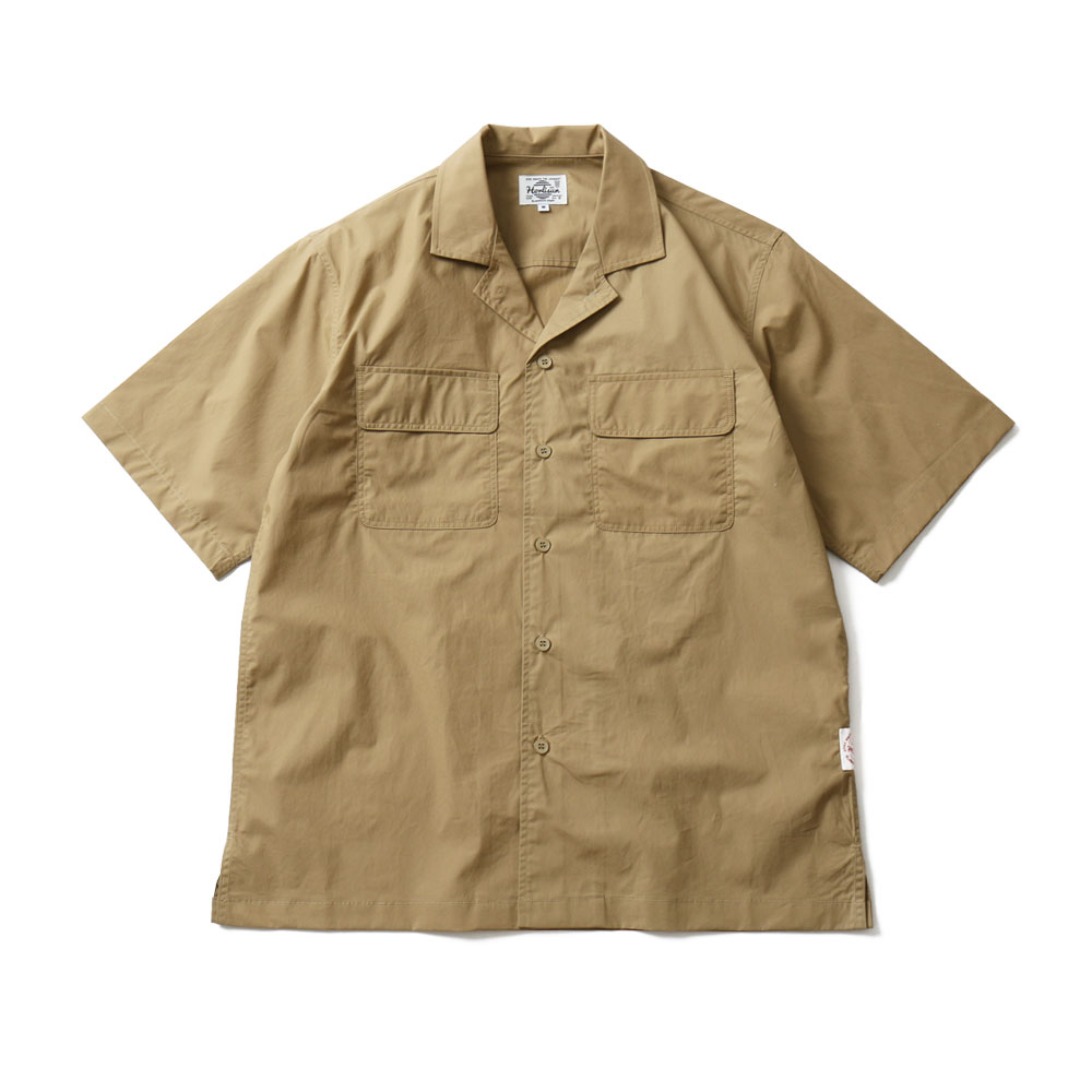 HORLISUNJoshua Extra High Density Solid Open Shirts(Beige)