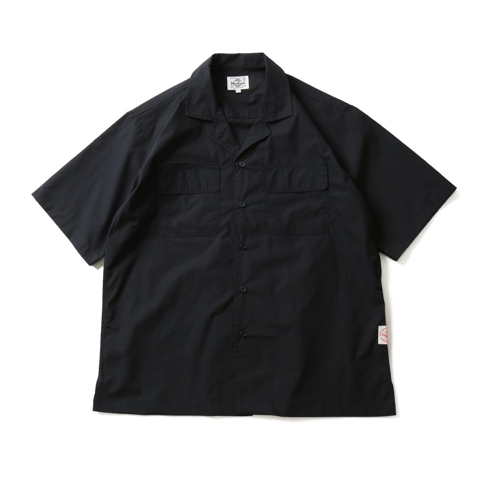 HORLISUNJoshua Extra High Density Solid Open Shirts(Navy)