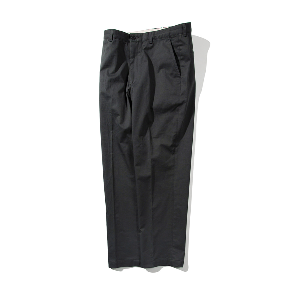 POTTERYWashed Tapered Pants Supima Cotton Seersucker(Dark Grey)