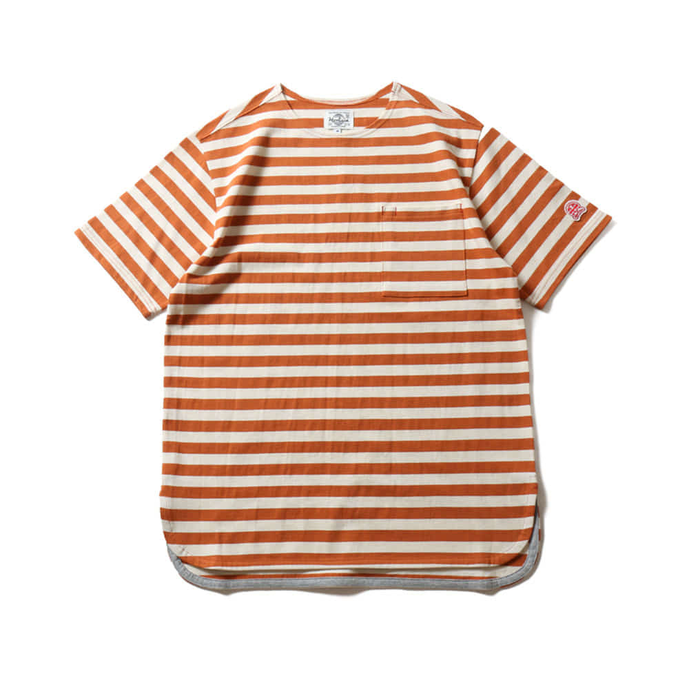 HORLISUNUnion Short Sleeve Pocket T(Orange/Beige)10% Off