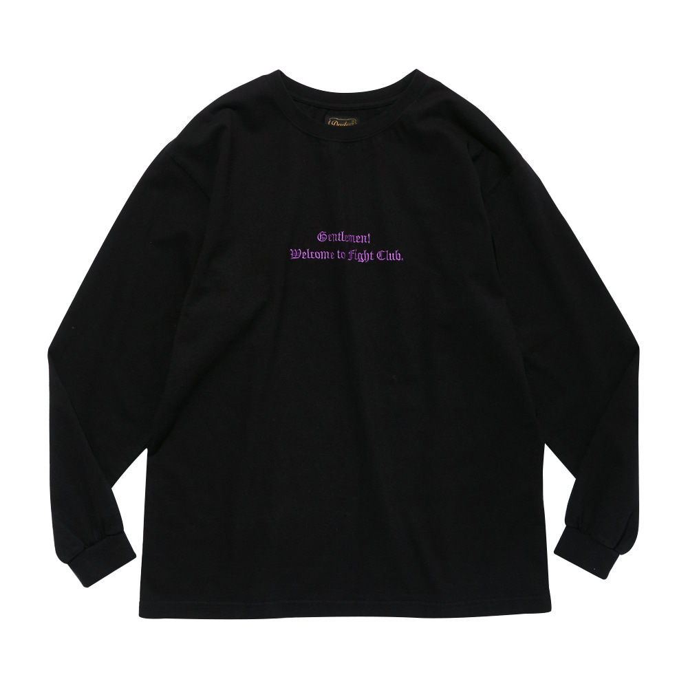 DEUTERODTR1906 Fight Club L/S T(Black)
