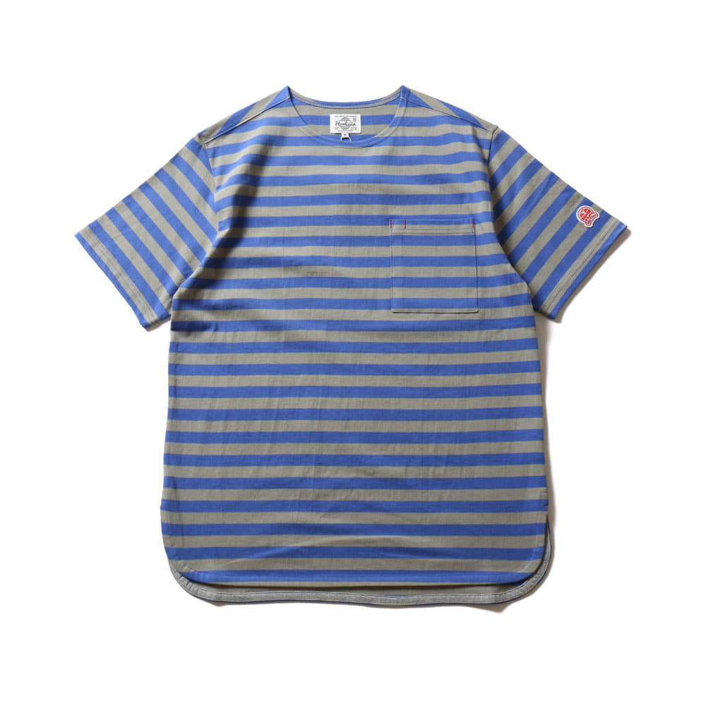 HORLISUNUnion Short Sleeve Pocket T(Blue/Gray)10% Off