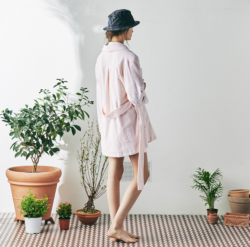 MONOPISPA(W) Buffalo Mid Robe Coat(Terry Pink)