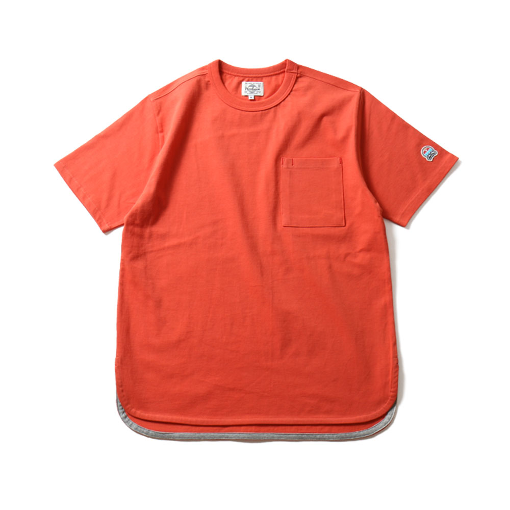 HORLISUNEmery Short Sleeve Pocket T(Orange)