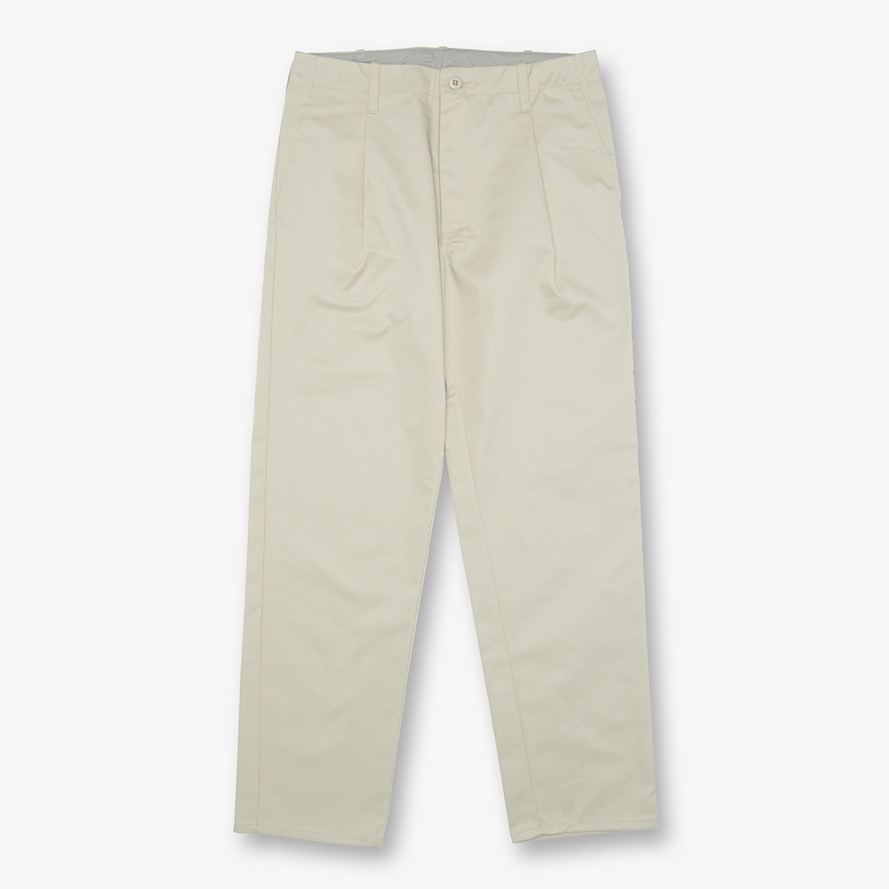 UNIVERSAL OVERALLUnisex Tuck Pants(Ivory)30% Off