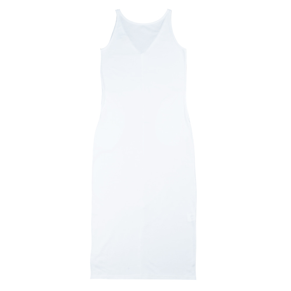 TOESleeveless Simple Dress(White)