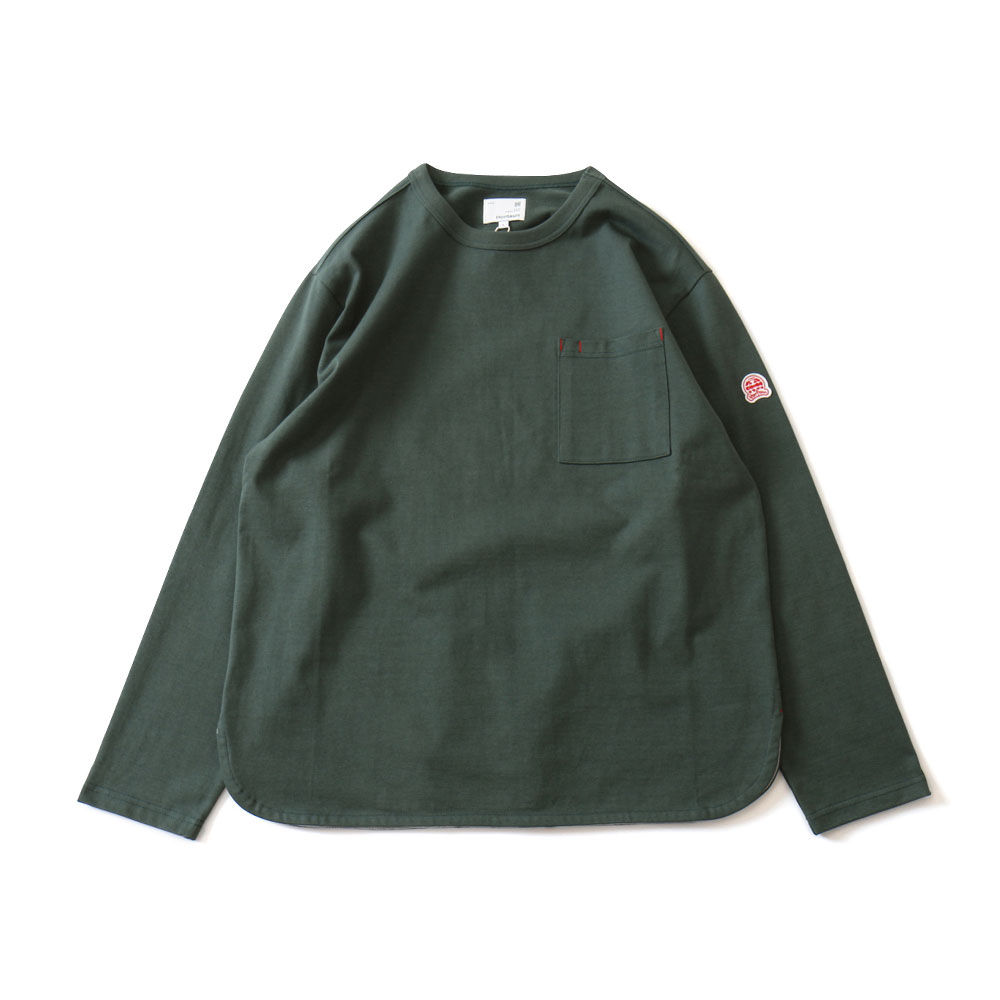 HORLISUNEmery Long Sleeve Pocket T(Dark Green)