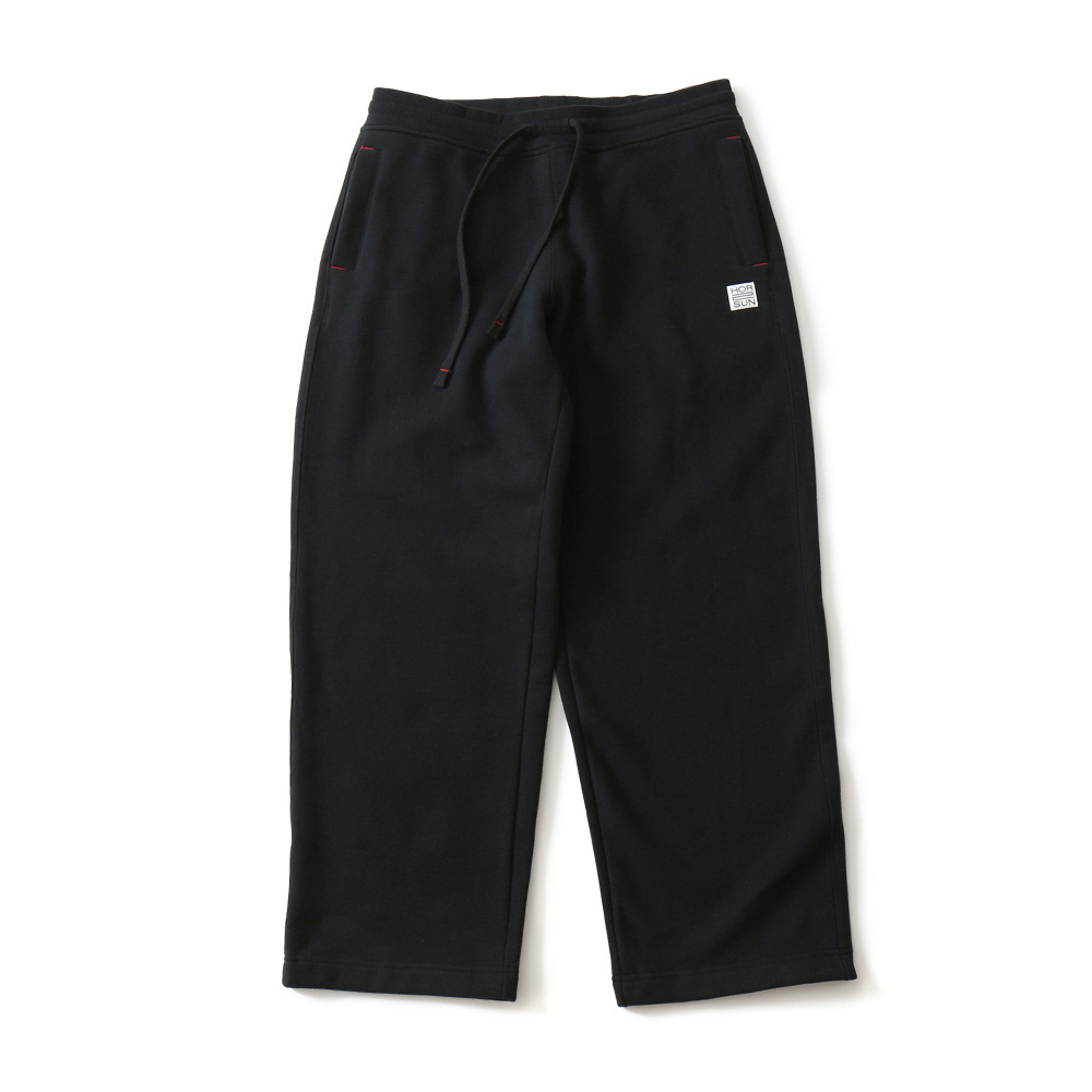 HORLISUNMarcell Wide Loose Fit Sweat Pants(Black)