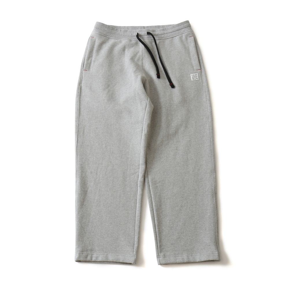 HORLISUNMarcell Wide Loose Fit Sweat Pants(Melange Gray)