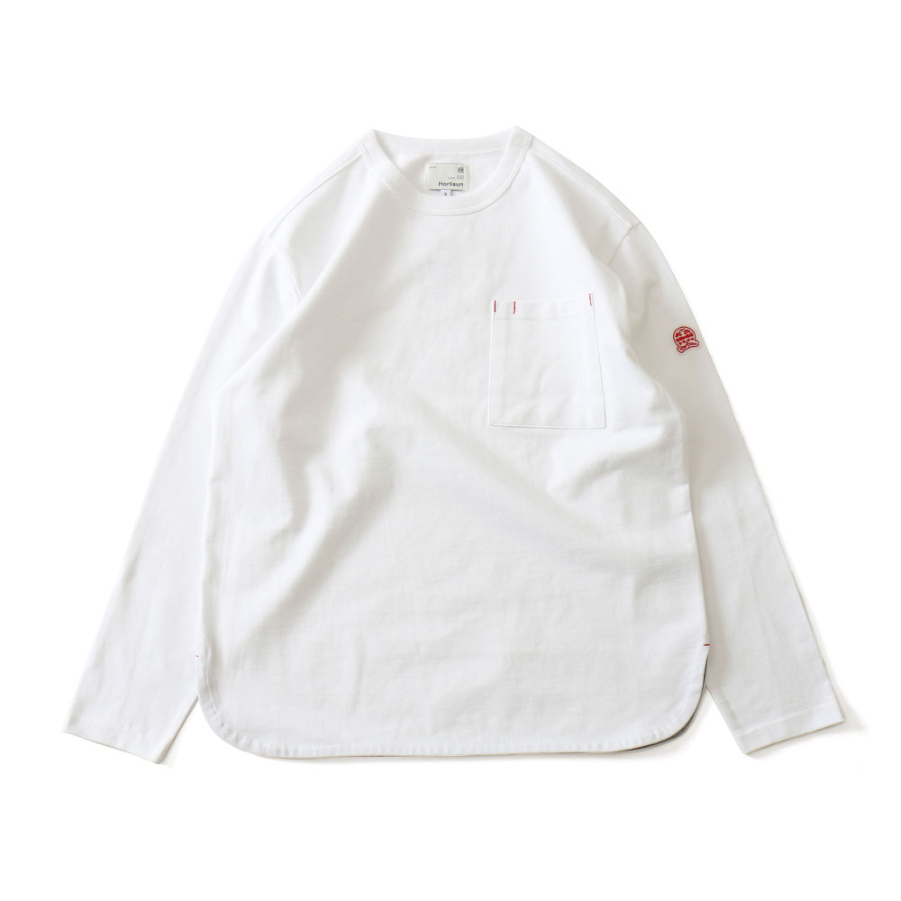 HORLISUNEmery Long Sleeve Pocket T(White)10% Off