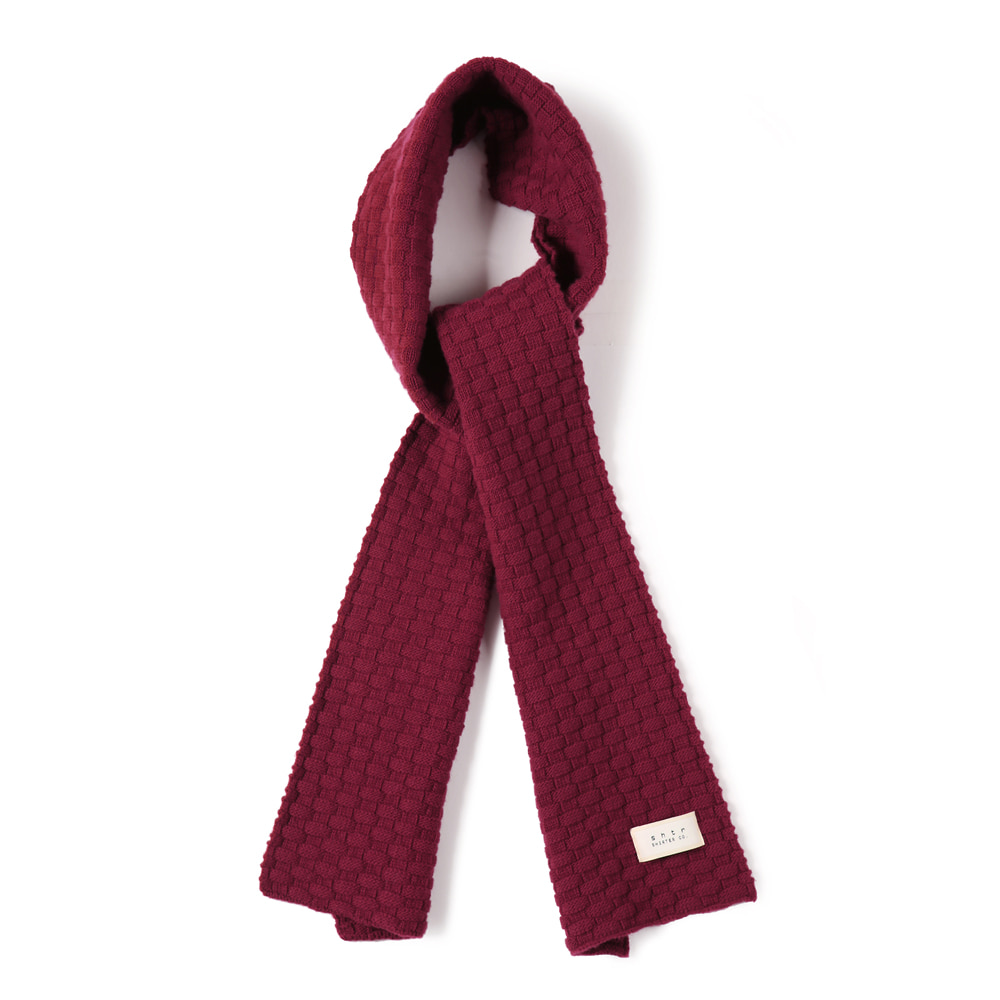 SHIRTERTASMANIA Wool Cashmere Muffler(Cralet Red)20% Off