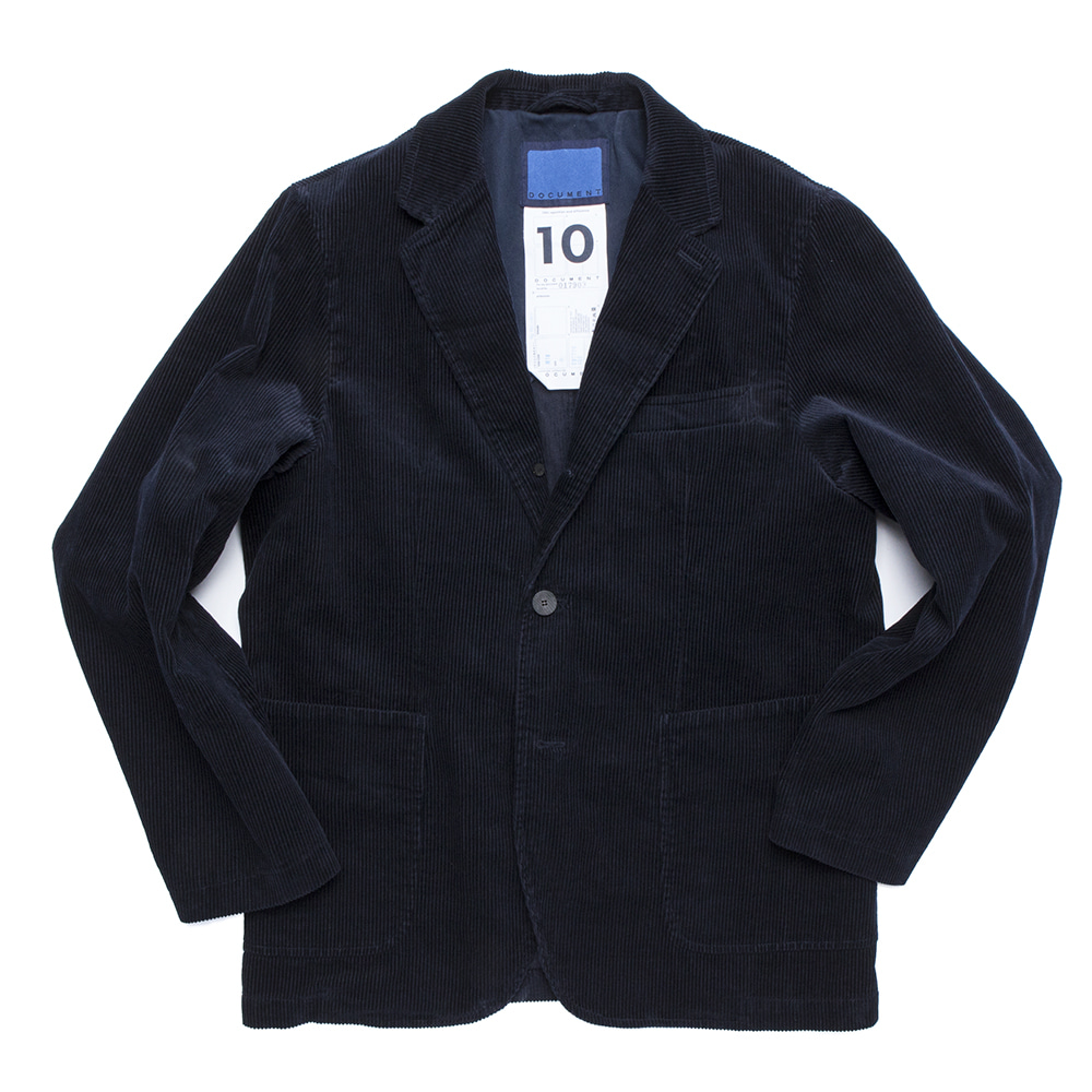 DOCUMENTCorduroy 3 Button Set Up Jacket(Dark Navy)