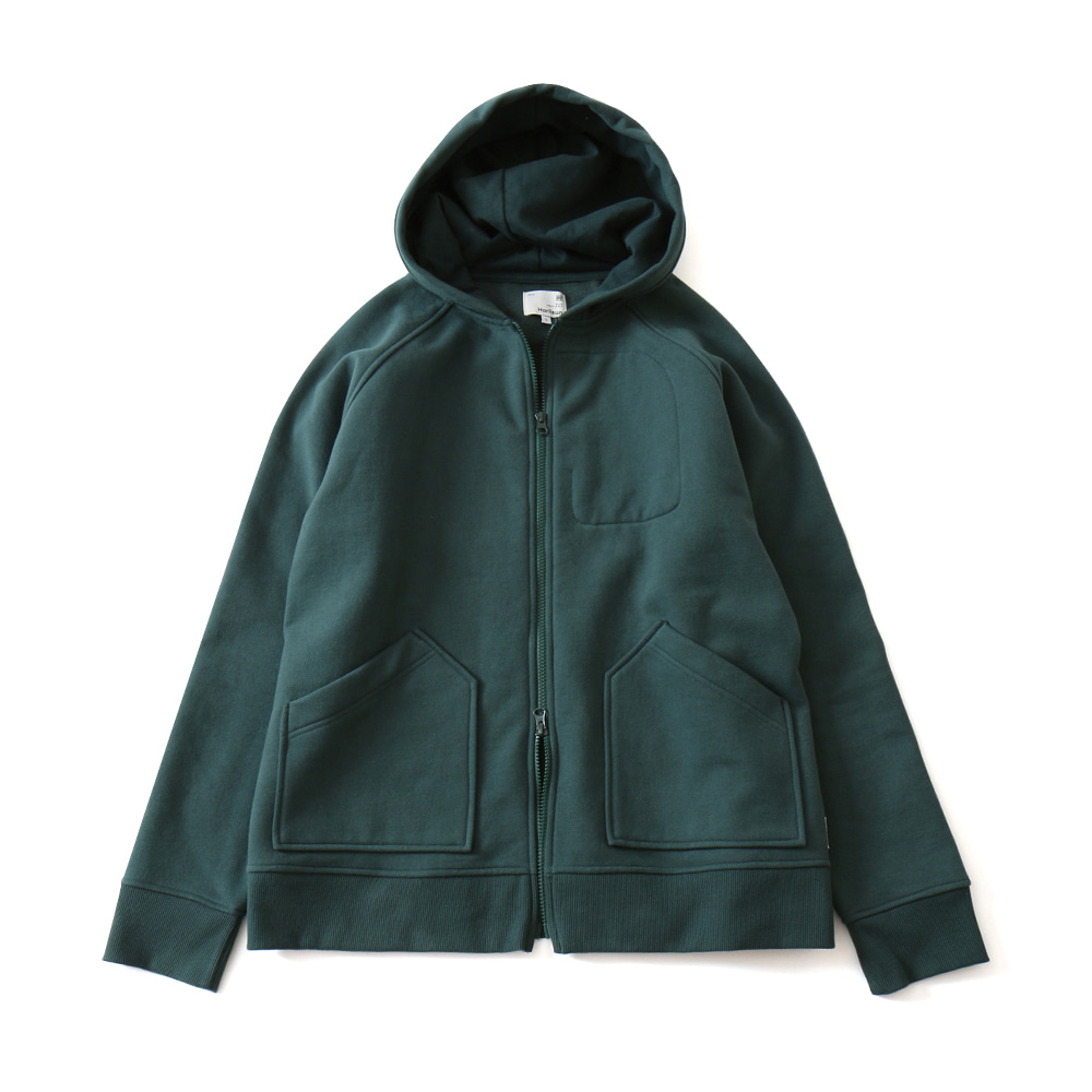 HORLISUNWilow Zipup Pocket Hood Jacket(Deep Green)