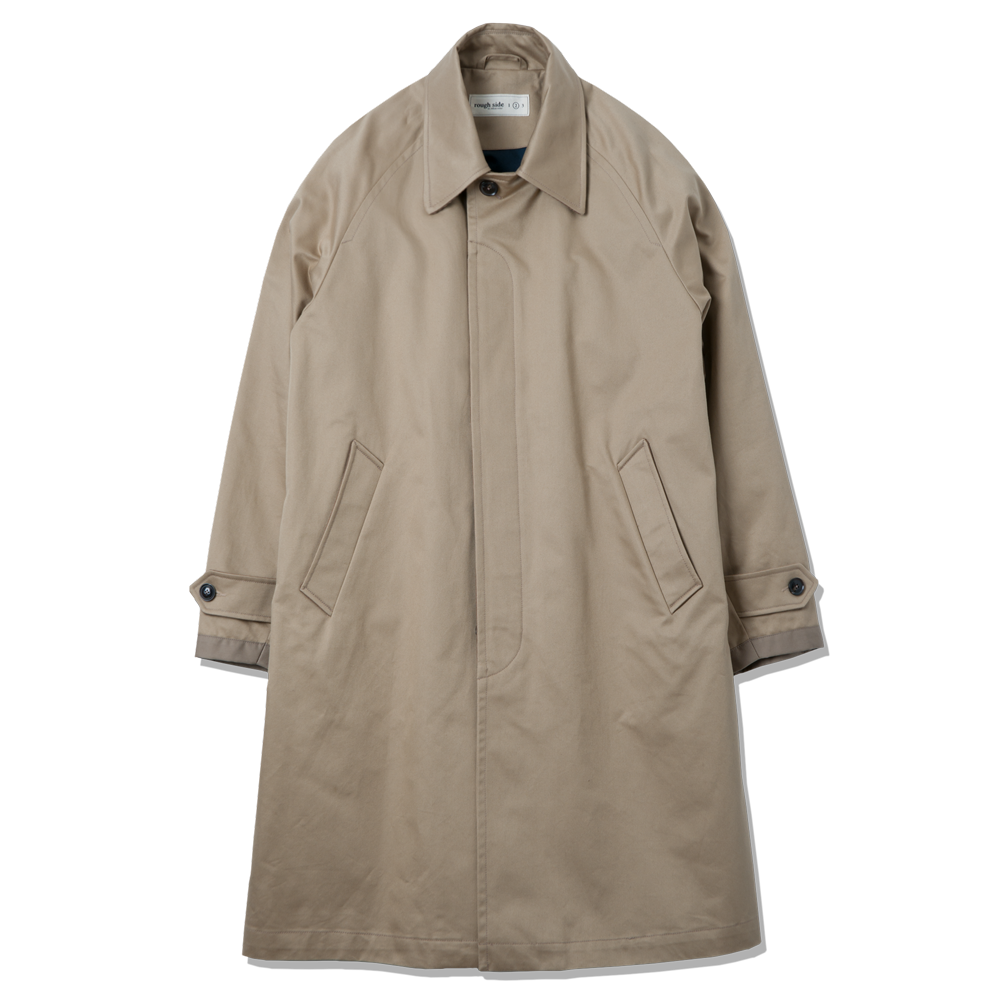 ROUGH SIDEBalmacaan Coat(Beige)20% Off
