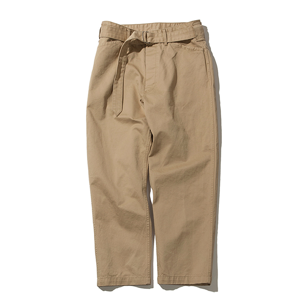 SOFTURBelted Fatigue Pants(Beige)