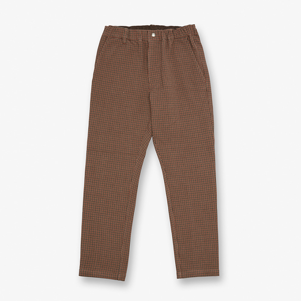 UNIVERSAL OVERALLWomen's Check Tapered Pants(Brown)30% Off