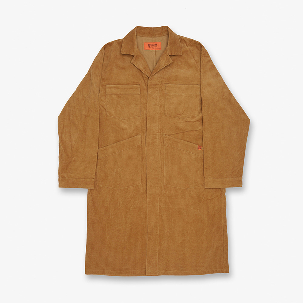 UNIVERSAL OVERALLCorduroy Shop Coat(Beige)30% Off