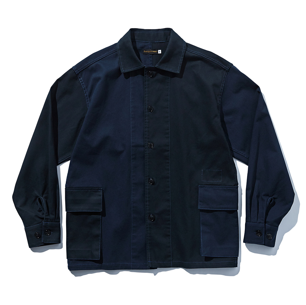 DEUTERODTR1916 DTR+MSK Cargo Shirts Jacket(Navy)