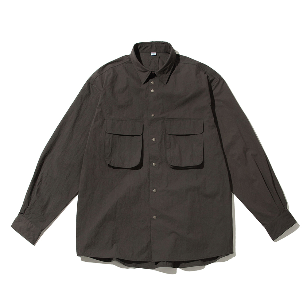 SOFTURRustle Wide Shirt(Charcoal)