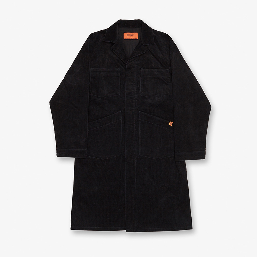 UNIVERSAL OVERALLCorduroy Shop Coat(Black)30% Off