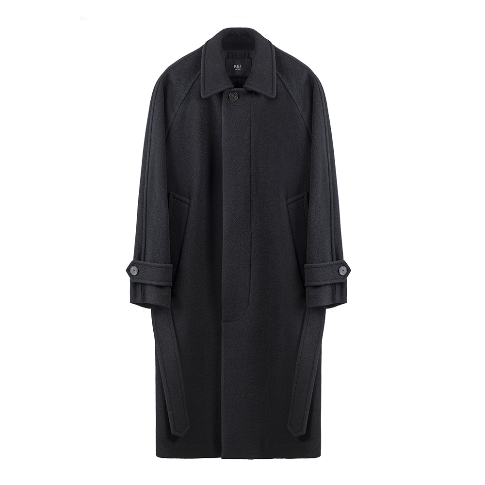 KEI CURRENTG Balmacaan Coat(Black)