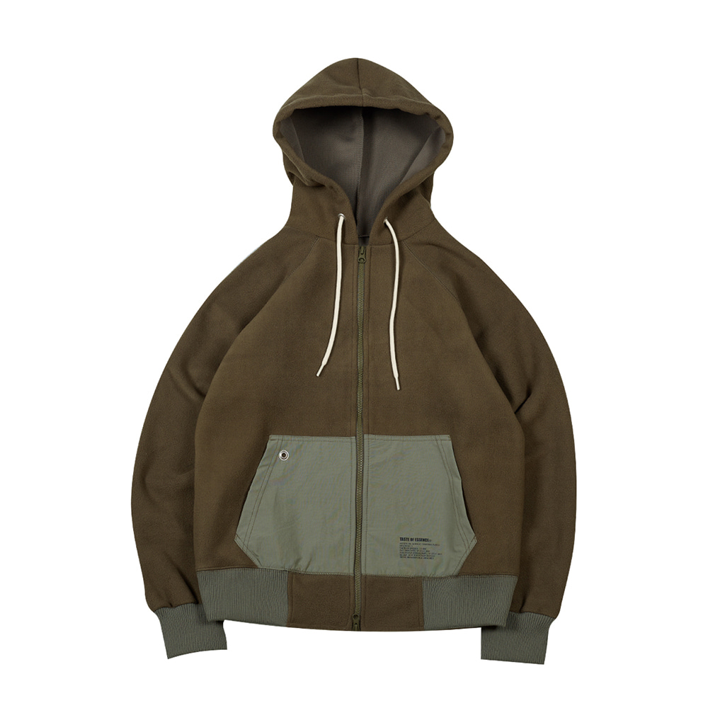 TOEFleece Hood Zip Up(Khaki)
