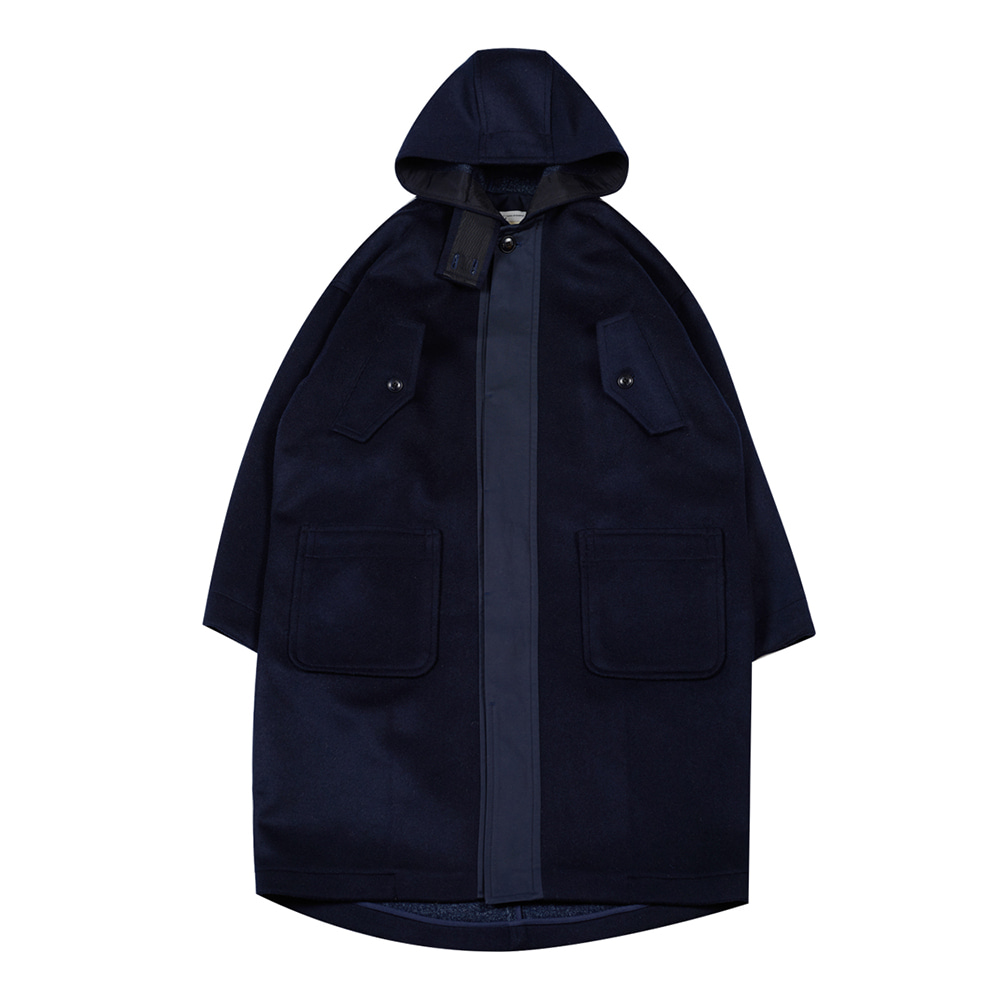 TOEHooded Wool Coat(Navy)20% Off