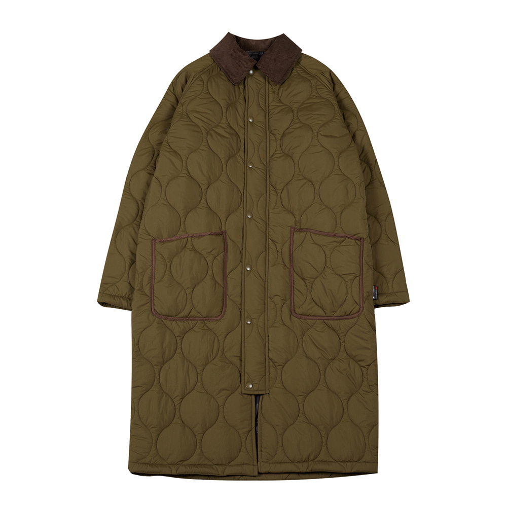 TOEReversible Quilted Coat(Khaki)