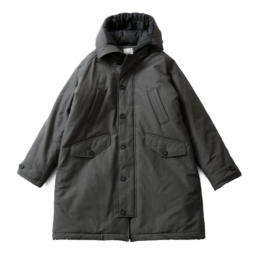 HORLISUNMoscow Padding Hood Coat(Charcoal)