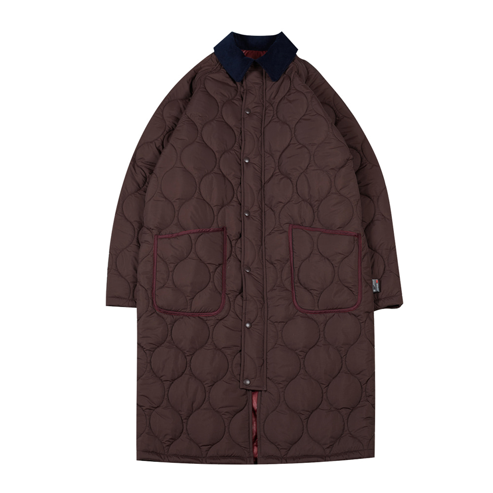 TOEReversible Quilted Coat(Brick)