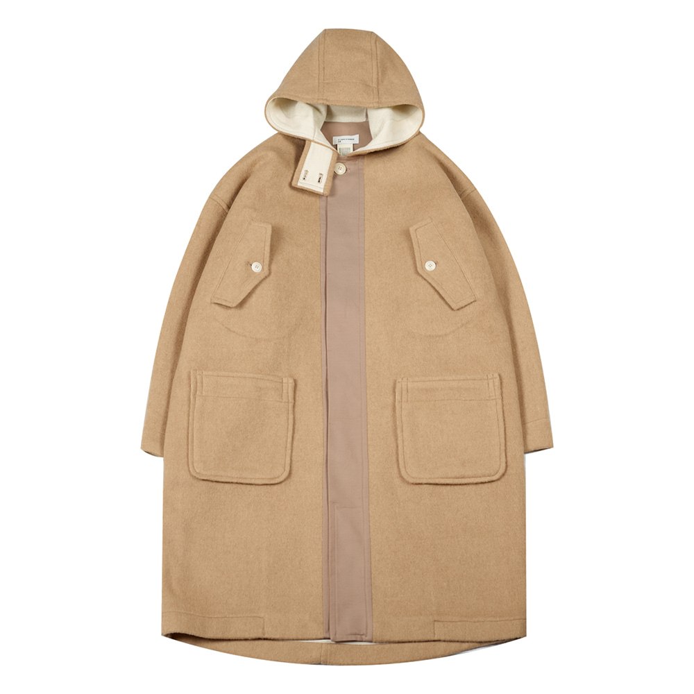 TOEHooded Wool Coat(Beige)20% Off