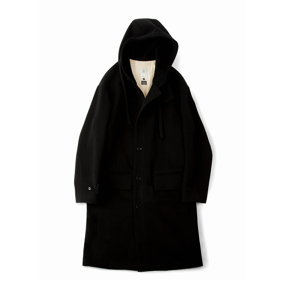 POLYTERUWool String Hooded Coat(Black)