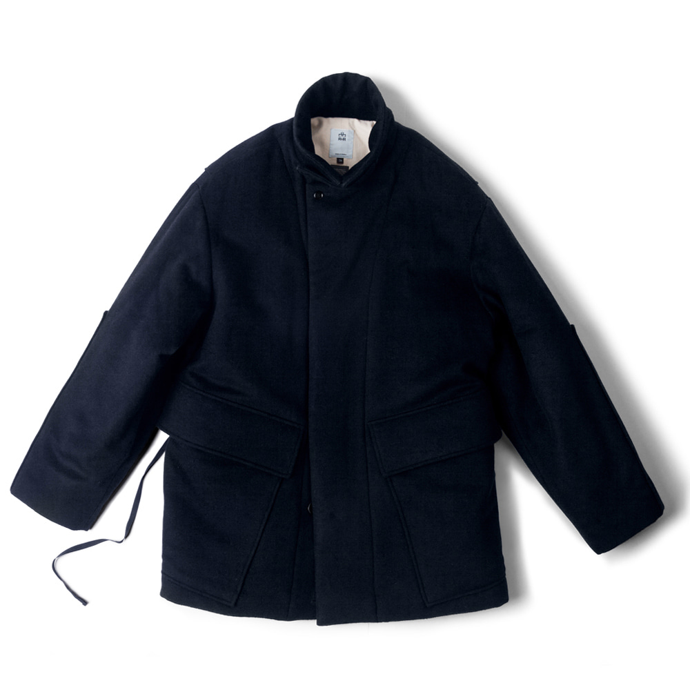 POLYTERUMelton Wool Puff Jacket(Dark Navy)