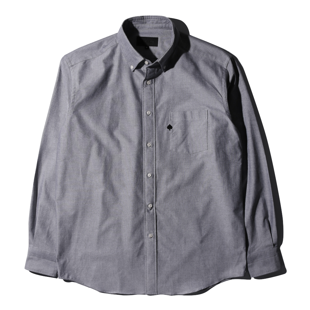 TEXT & SLNCSpade Embroidered Oxford Shirts(Grey)