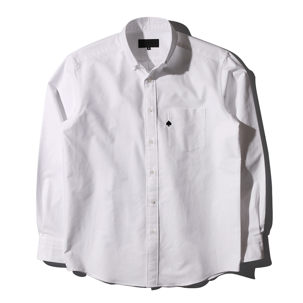 TEXT & SLNCSpade Embroidered Oxford Shirts(White)