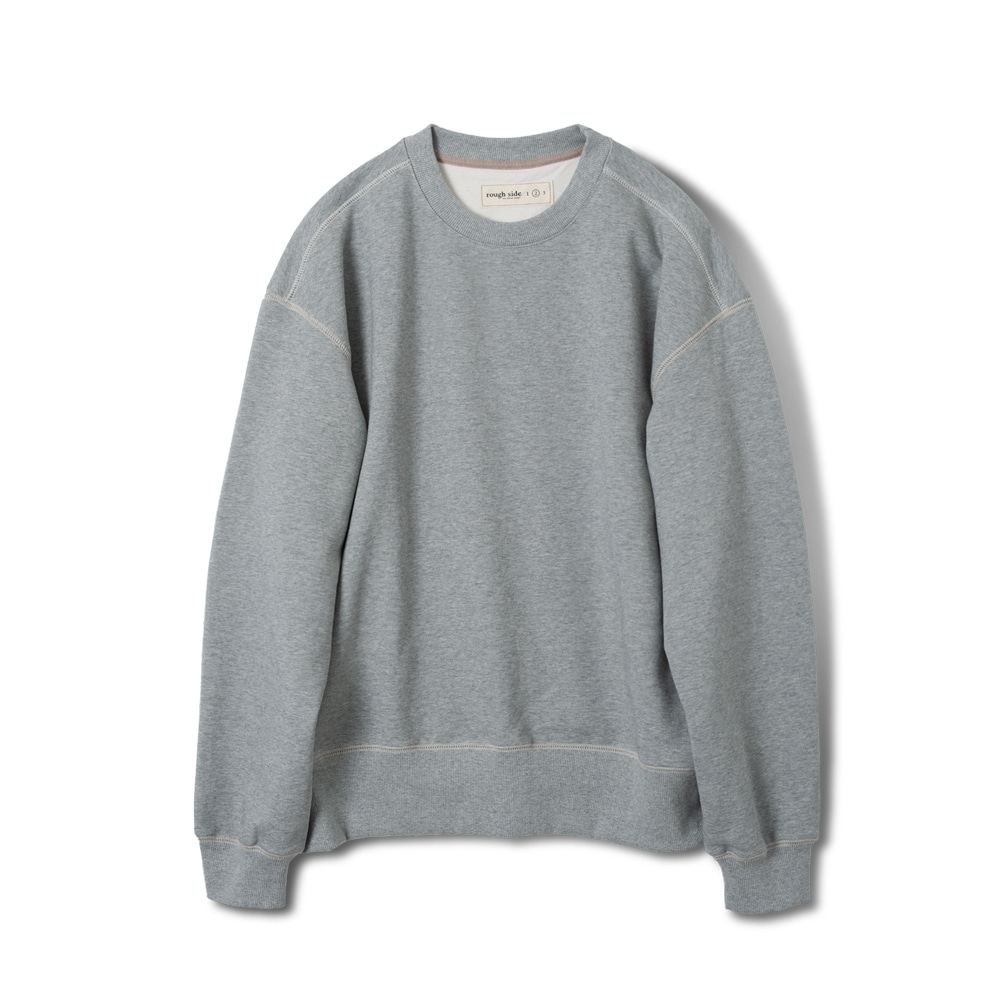 ROUGH SIDEOversized Sweat Shirts (M.Grey)