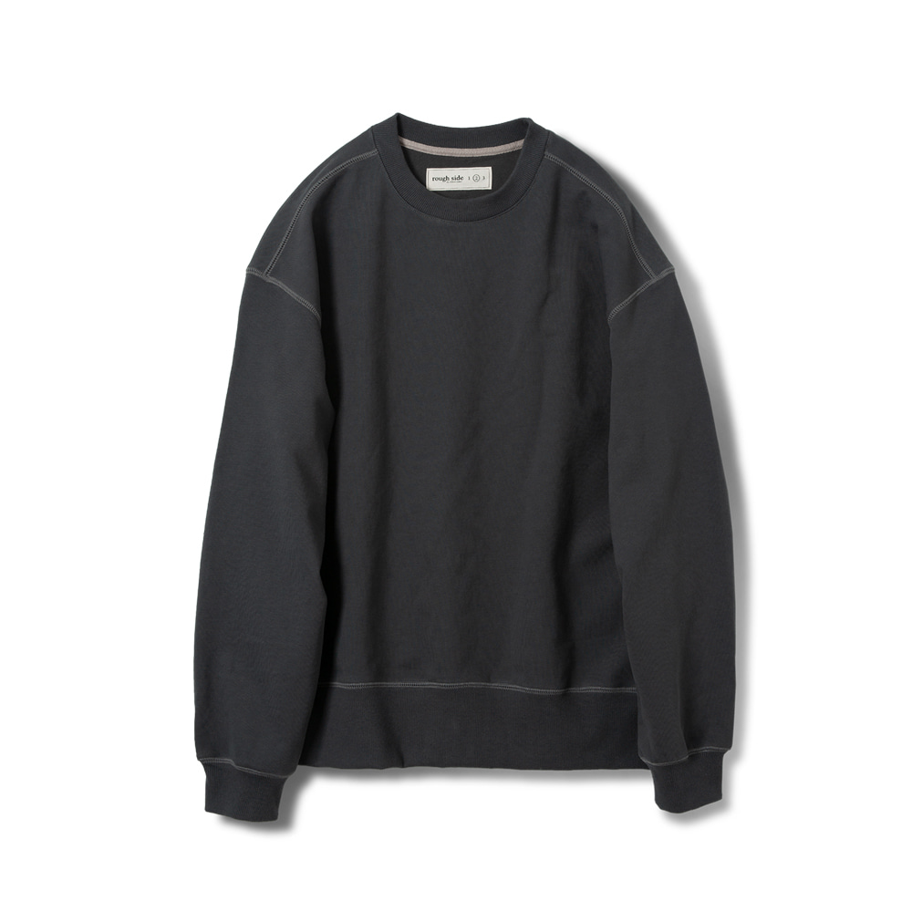 ROUGH SIDEOversized Sweat Shirts (D.Charcoal)