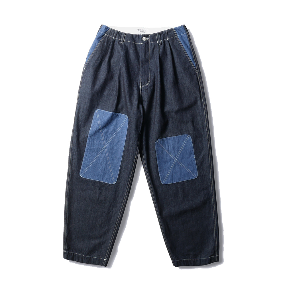 NAMER CLOTHINGBluer Denim Mix Pants20% Off