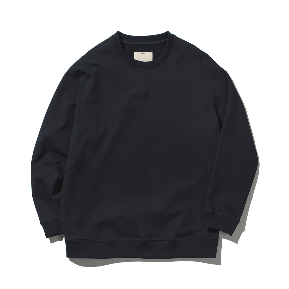 POTTERYHeavy Sweat ShirtHard & Compact French Terry Cotton Special Silk Processing(Navy)