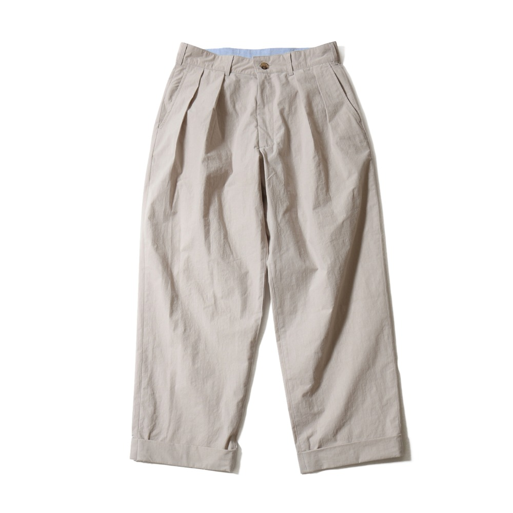 HORLISUN*RESTOCK*Laurier Typewriter Wide Pants(Gray Beige)