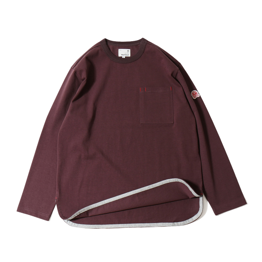 HORLISUNUnisex Emeryt Pocket T(Burgundy)